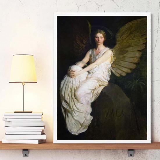 Абат Хендерсън Тайер, Чакащ ангел - Репродукция, Арт пано репродукция