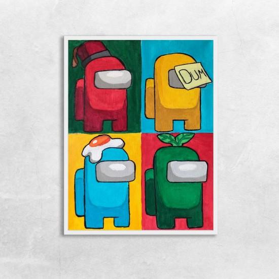 Амонгъси Pop It - постер