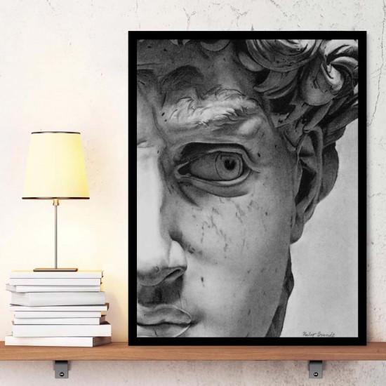 Микеланджело, Давид - Репродукция, арт-фрагмент, detajl, образец, Арт пано репродукция
