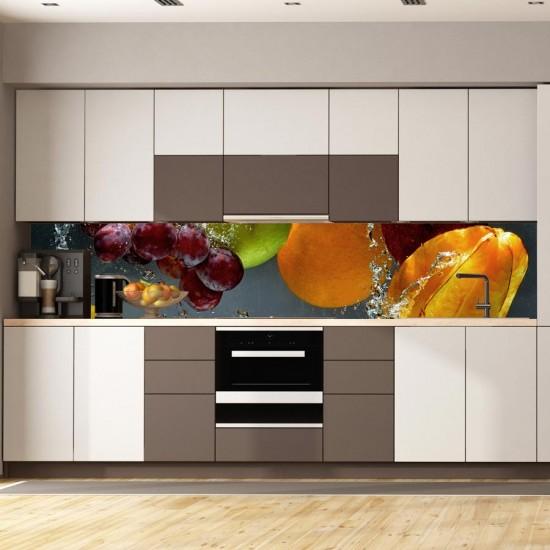 Вода и плодове - Гръб за кухня, фолио за гръб на кухня