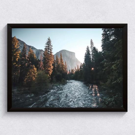 Изгрев в долината - Фото пано, Поредица картини с пейзажи