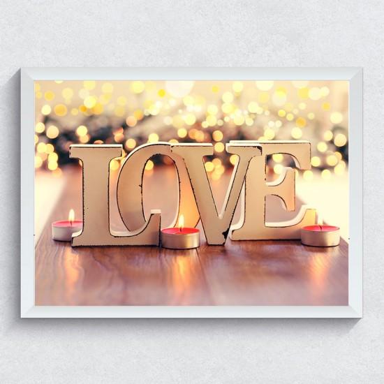 Букви LOVE - Фото картина - Постер с рамка