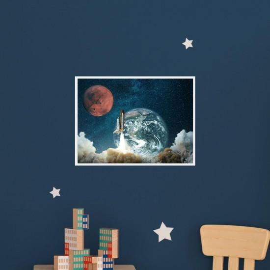 Космонавтика 1 - Фото картина - Постер с рамка