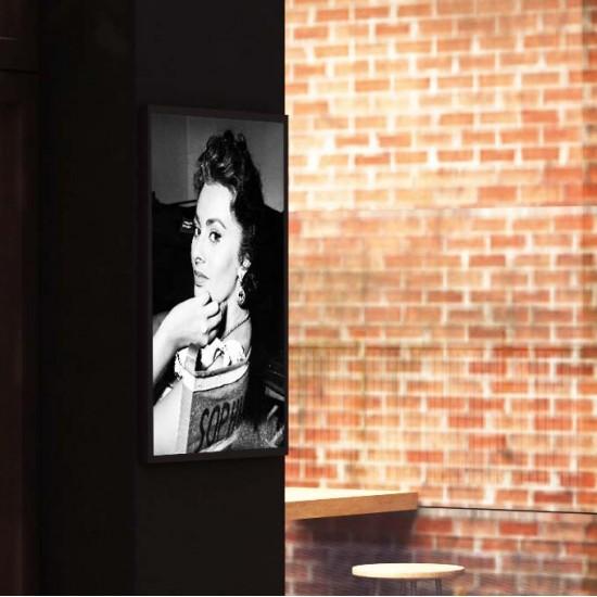 Sophi Backstage - Постер в рамка или канава с черно бяла снимка