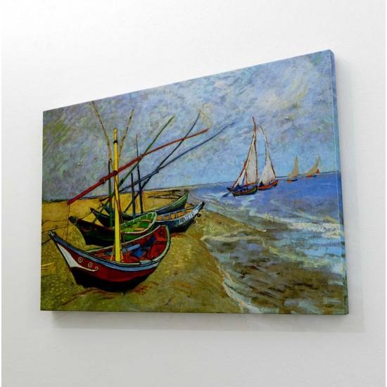 Риболовни лодки, Ван Гог - Арт пано