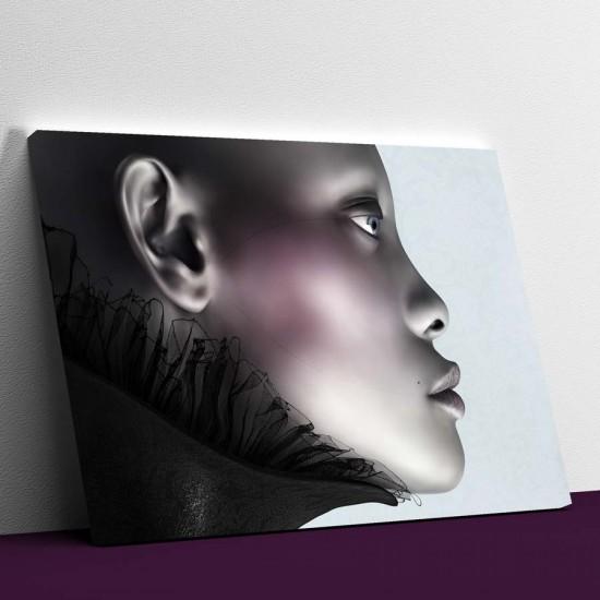 3D Женски портрет в профил - Фото арт