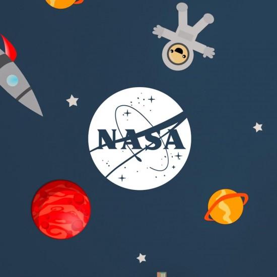 Лого NASA - Надпис за стена