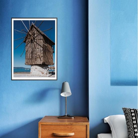 Символът на Несебър - Вятърна мелница, Фото картина
