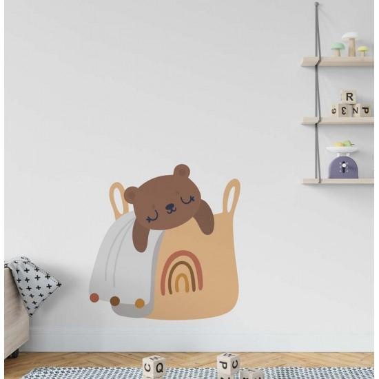 Спящ кош - стикер за стена
