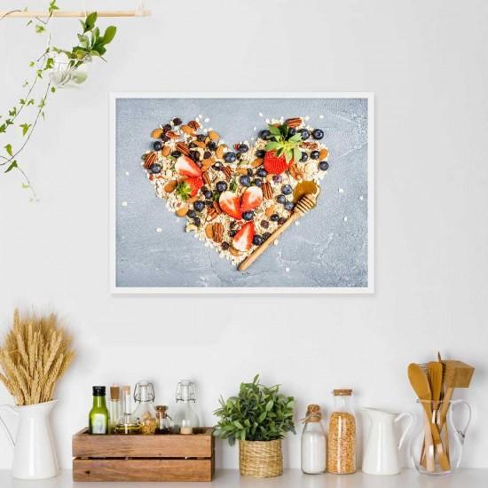 Сладка Био кухня - Фото арт Сърце от био храни