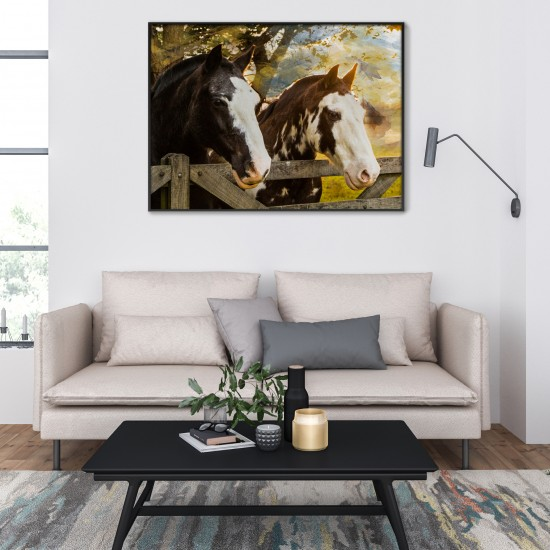 Братя - фото-арт картина с коне