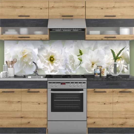 Бели цветове, Жасмин - Стикер за гръб на кухня