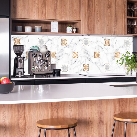 ПВЦ Стикер за гръб на кухня - Copperele