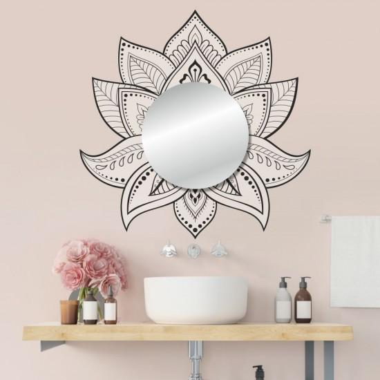 Стикери за стена с огледало - лотос