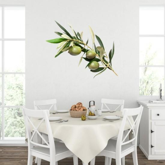 маслиново клонче стикер за стена