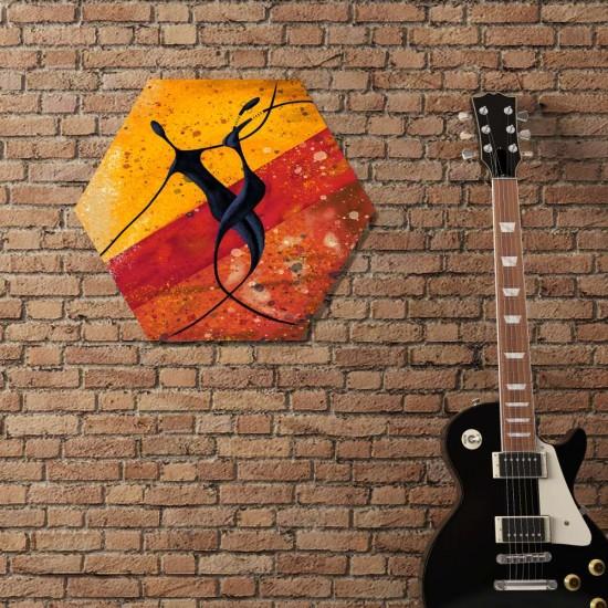 Вълшебен танц  - Хексагон пано за декорация на стена