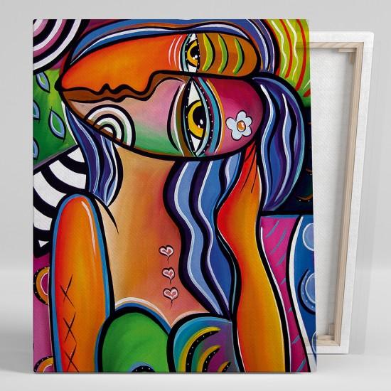 Абстрактен портрет, Ели - картина