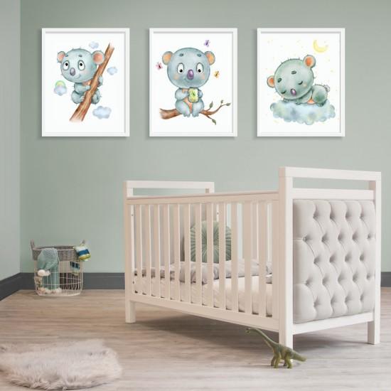 Коала, чаровна и забавна - Детска картина три части