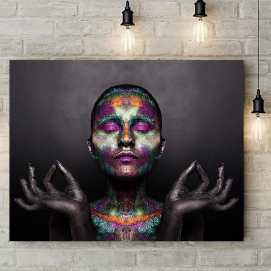 Медитация и цветове - фото картина