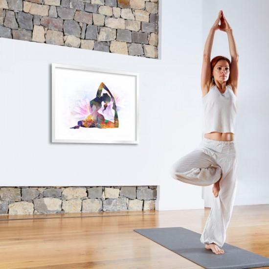 King Pigeon / Кралски гълъб, живописна йога поза - фото картина