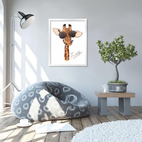 You so coool - жираф - постер, картина за стена