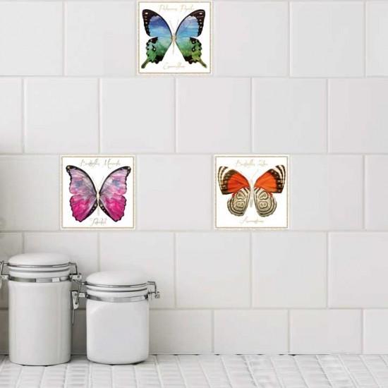 Криле на пеперуди - стикери за плочки