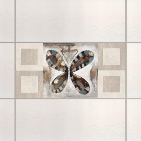 Пеперуда - стикери за плочки и стени