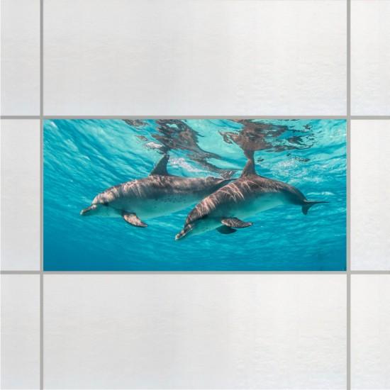 Делфини - стикери за плочки и стени