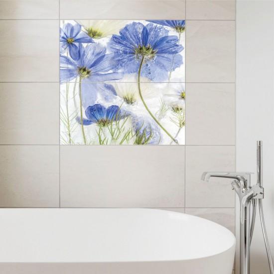 Космос син цвят - стикери за плочки и стени
