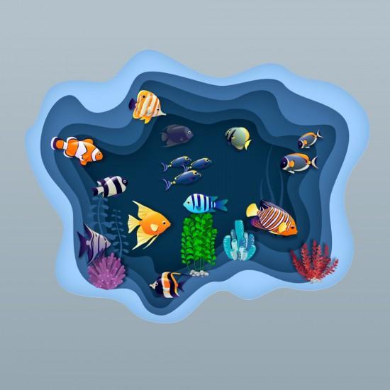 Малък океан - стикер за стена