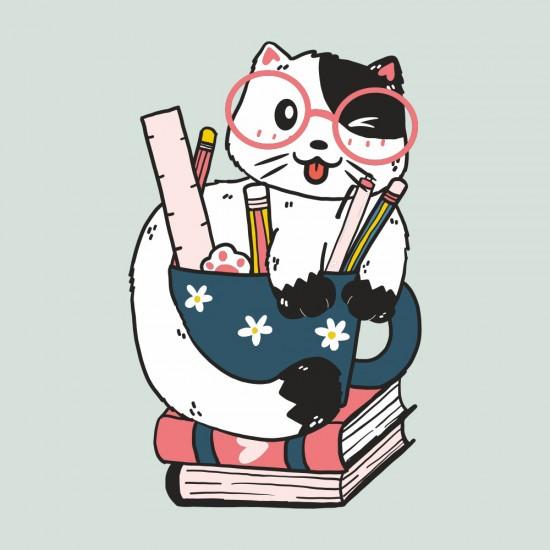 Ученото коте - стикер