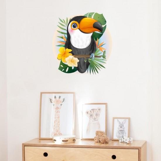 детски стикер за стена с папагал