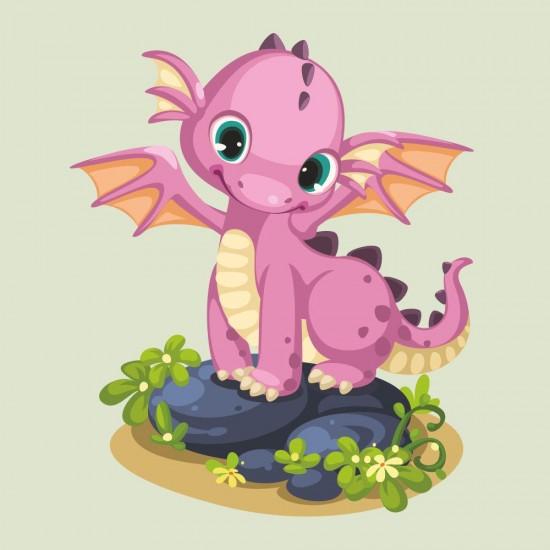 детски стикер с драконче