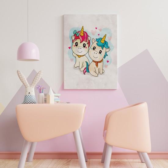 картина за детска стая с еднорози