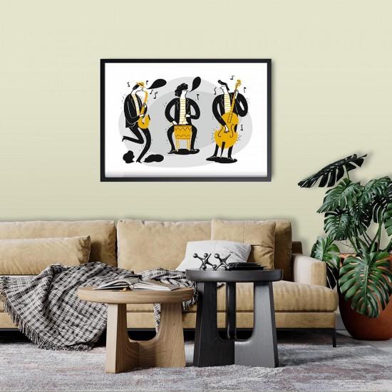 Картина за стена с музиканти