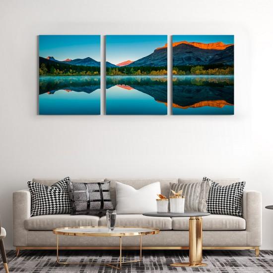 картина планина отражение в езеро