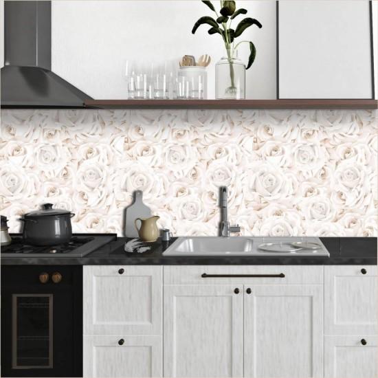 ПВЦ Стикер за гръб на кухня Рози