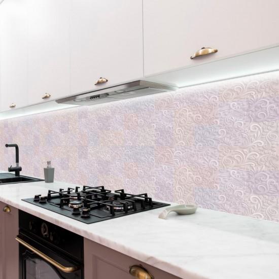 ПВЦ Стикер за гръб на кухня Розово Мечтание