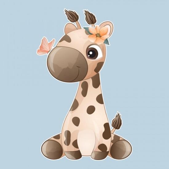 детски стикер жирафче
