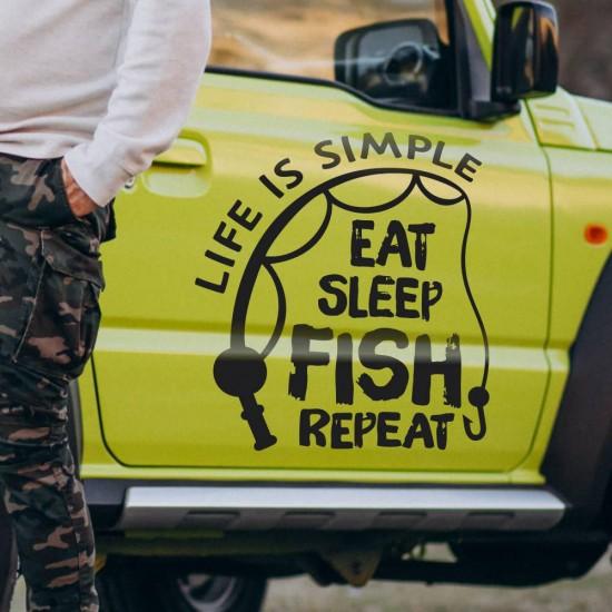 рибарски стикер за кола