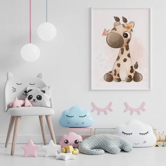 детска картина малко жирафче