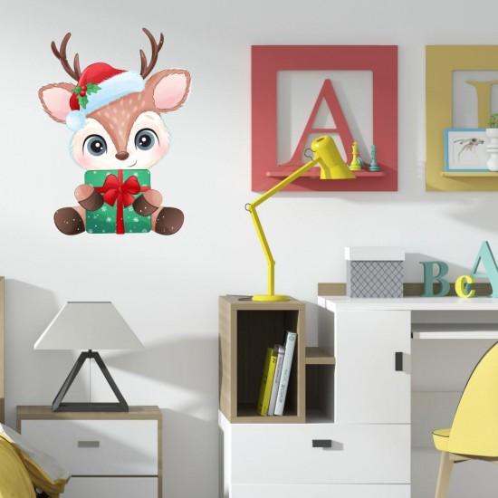 коледен стикер за стена с еленче