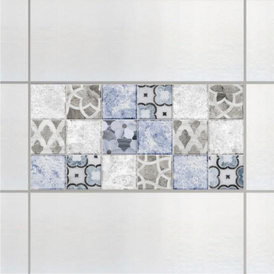 Мраморни цветя, мозайка - стикери за плочки