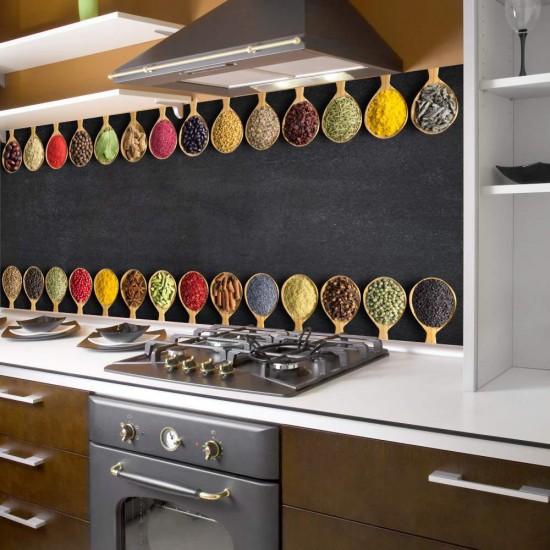 Подправки - фолио за гръб на кухня