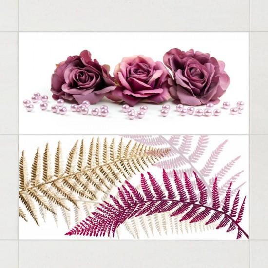 Рози и перли - стикери за плочки и стени