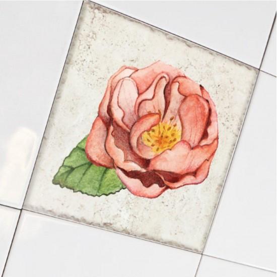 Рози, рустик - стикери за плочки