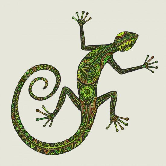стикер за стена саламандър