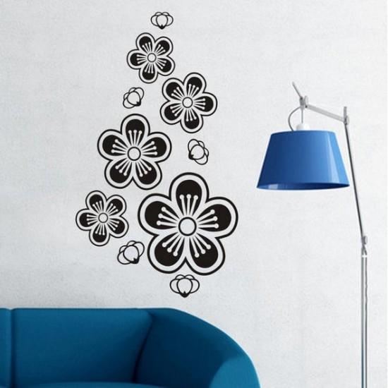 стикер за стена Стилизиран Цвят от вишна