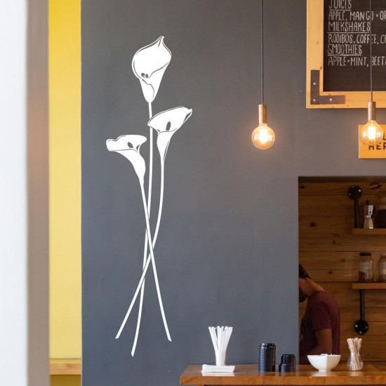 Букет Кала - стикер за стена цветя