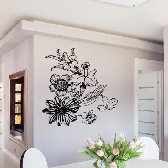 стикер за стена с цветя